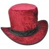 Top Hat Velvet Burgundy